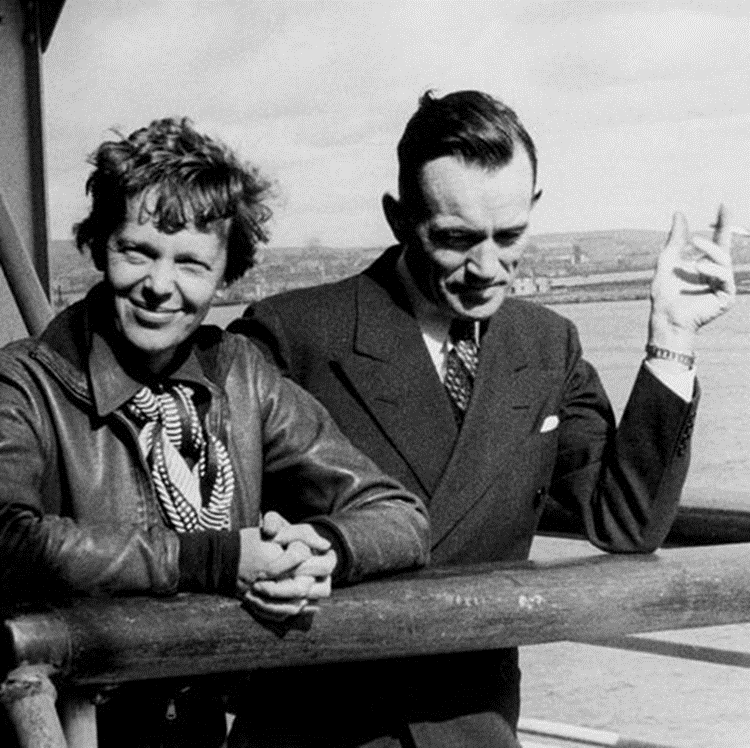 Figure 8. Fred Noonan, a chronic cigarette smoker, pictured with Amelia Earhart in 1937.