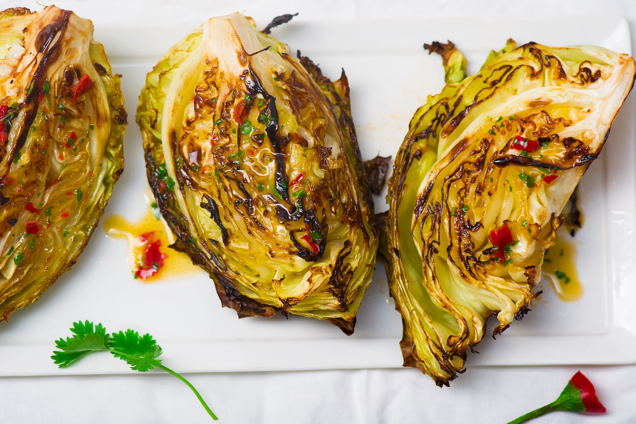 Grilled Napa Cabbage